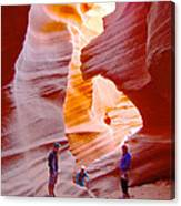 Overwhelmed In Lower Antelope Canyon-az Canvas Print