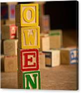 Owen - Alphabet Blocks Canvas Print