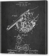 Owen Revolver Patent Drawing From 1899- Dark Canvas Print