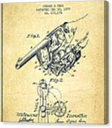 Owen Revolver Patent Drawing From 1899- Vintage Canvas Print