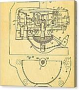 Owens Glass Shaping Machine Patent Art 3 1904 Canvas Print