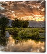 Owens River Sunset Canvas Print