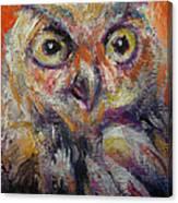 Owl Aceo Canvas Print