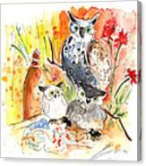 Owl Family In Velez Rubio Canvas Print