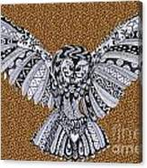 Owl In Flight Leopard Canvas Print