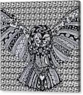 Owl In Flight Pattern Canvas Print