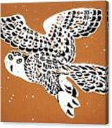 Owl In Gold Sky Canvas Print