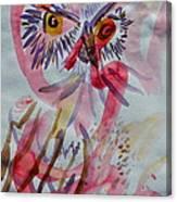 Owl In The Fresh Air Canvas Print