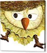 Owl Leaf 3 Canvas Print