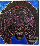 Owl Mask Self Portrait Canvas Print