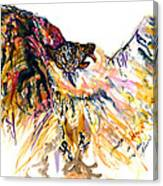 Owl Power Canvas Print