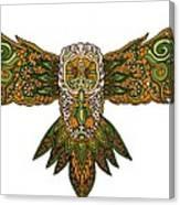 Owl Yellow Canvas Print