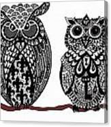 Owls 10 Canvas Print