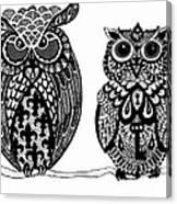 Owls 9 Canvas Print