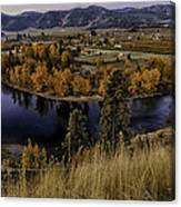 Oxbow Bend In The Wenatchee River Canvas Print