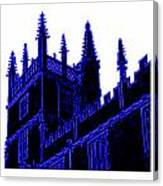 Oxford England 1986 Blue Spirals Art1 Jgibney The Museum Gifts Canvas Print