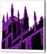 Oxford England 1986 Purple Spirals Art1 Jgibney The Museum Gifts Canvas Print