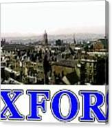 Oxford Snapshot Panorama Rooftops 2 Jgibney The Museum Zazzle Gifts Canvas Print