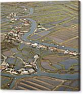 Oyster Beds, La Tremblade Canvas Print