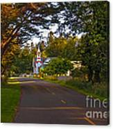 Oysterville Church Framed Canvas Print