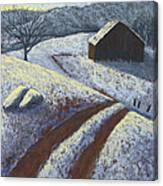Ozark Winter Barn Canvas Print