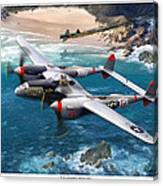 P-38 Lightning Battle Axe Canvas Print