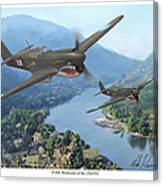 P-40 Warhawks of the 23rd FG Canvas Print