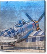 P-47 Thunderbolt Airplane Wwii Airfield Canvas Print