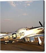 P-51 Mustang Fighter Aircraft Canvas Print