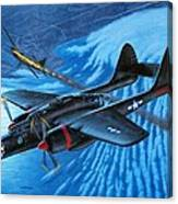 P-61 Black Widow  Caught in the Web Canvas Print