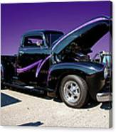 P P - Purple Pickup Canvas Print