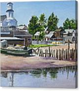 P' Town Boat Works Canvas Print