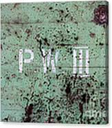 P W Canvas Print