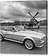 P51 Meets Eleanor In Black And White Canvas Print