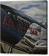 P51 Mustang Kentucky Babe Warbird Canvas Print