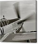 P51 Mustang Takeoff Ready Canvas Print