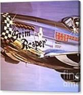 P51d Mustang Grim Reaper Warbird Canvas Print
