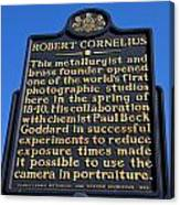 Pa-134 Robert Cornelius Canvas Print