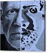 Pablo Cyan Canvas Print