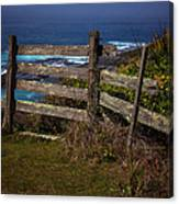 Pacific Coast Fence Canvas Print