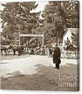 Pacific Grove Retreat Gate On Lighthouse At Grand Aves  With  O. J. Johnson Circa 1880 Canvas Print