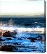 Pacific Grove Surf 19894 Canvas Print