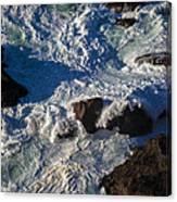 Pacific Ocean Against Rocks Canvas Print