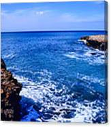 Pacific Ocean And Lava Canvas Print