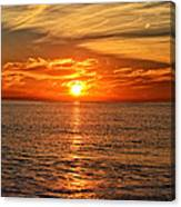Pacific Ocean Sunset Canvas Print