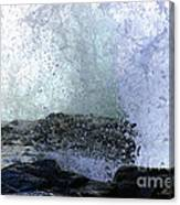Pacific Ocean Wave Splash Canvas Print