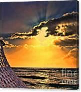 Pacific Sunset By Diana Sainz Canvas Print