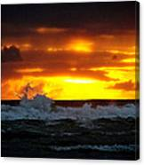 Pacific Sunset Drama Canvas Print