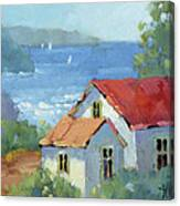 Pacific View Cottage Canvas Print