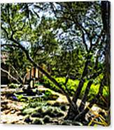 Pacifica Courtyard Canvas Print